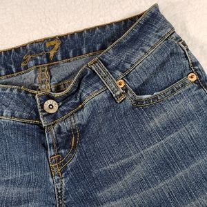 Seven7 Superlow Stretch Medwash Jeans size 25